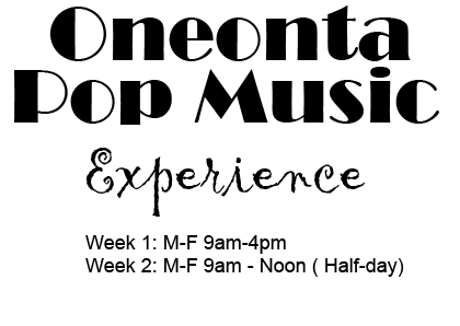 Oneonta Pop Music Logo